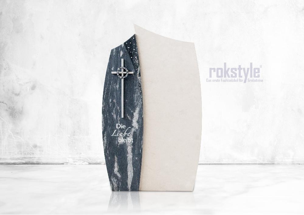 Rokstyle moderner Grabstein 001