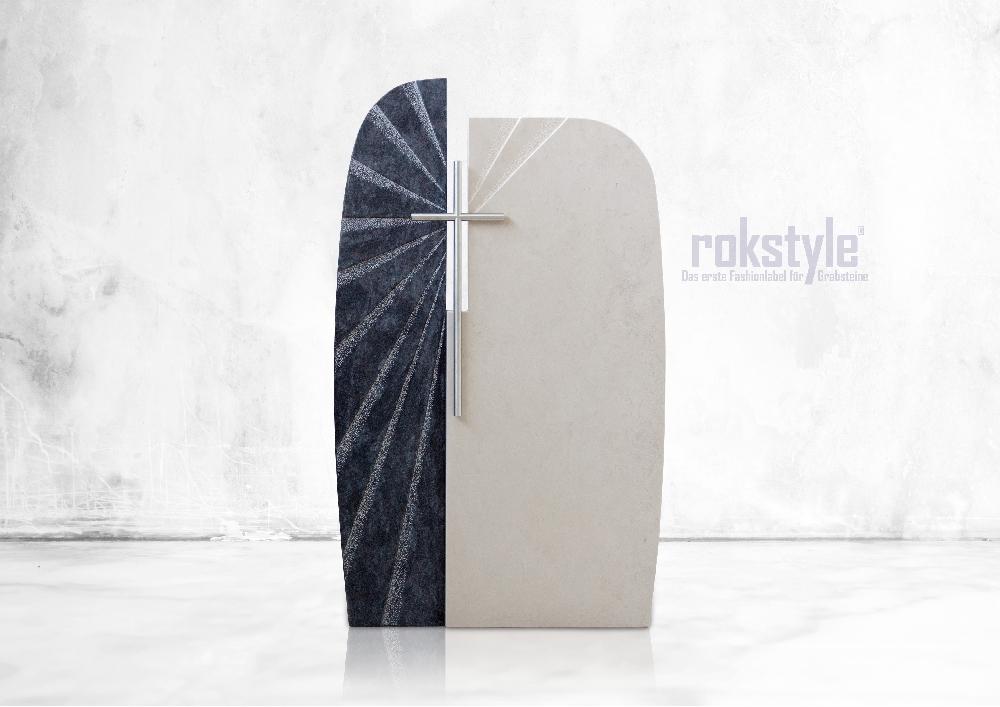 Rokstyle moderner Grabstein 002