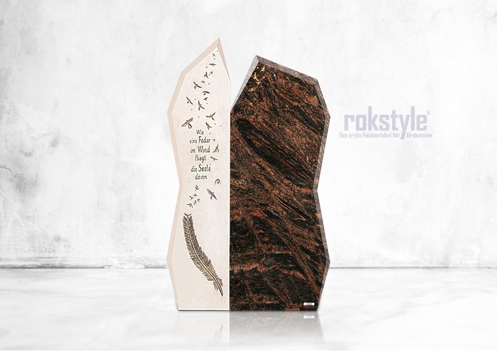 Rokstyle moderner Grabstein 051