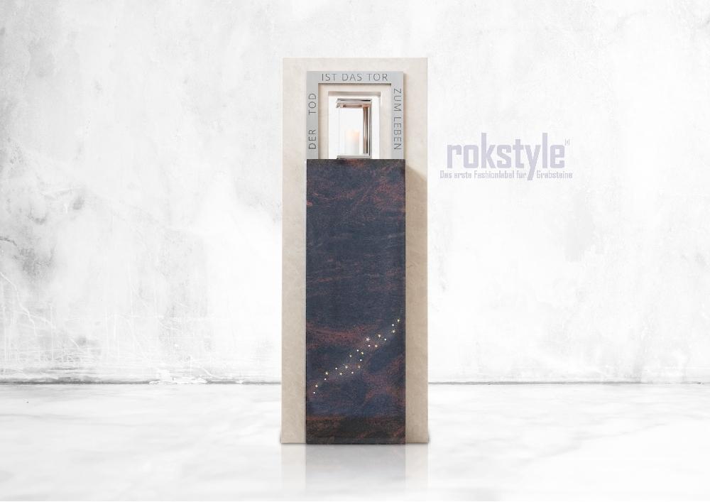 Rokstyle moderner Grabstein 053