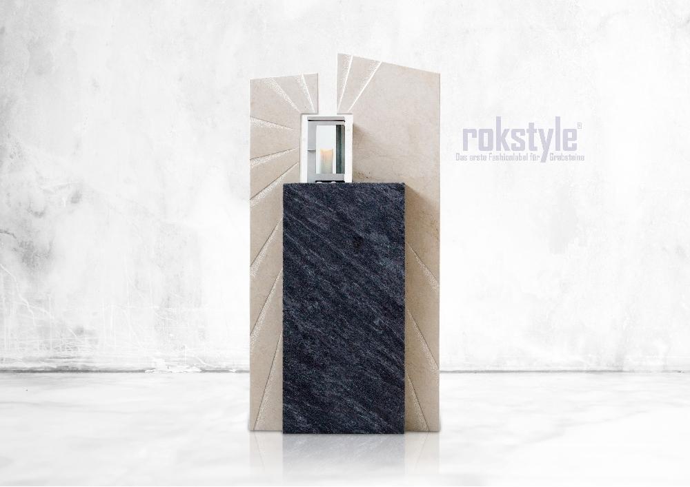 Rokstyle moderner Grabstein 054