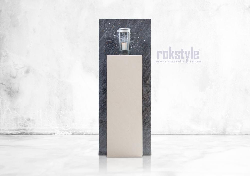 Rokstyle moderner Grabstein 055