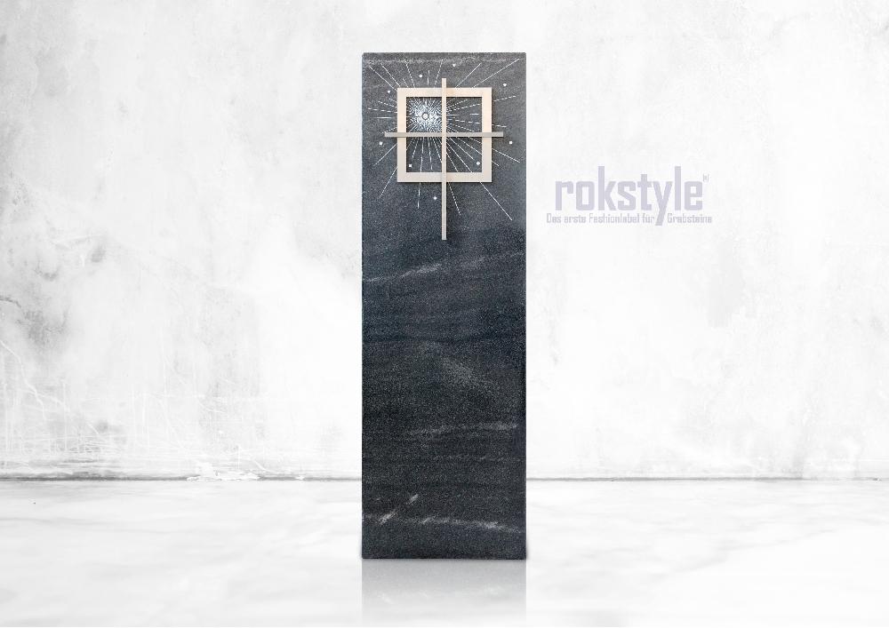 Rokstyle moderner Grabstein 056