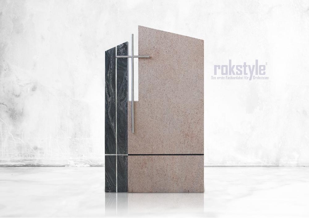 Rokstyle moderner Grabstein 057