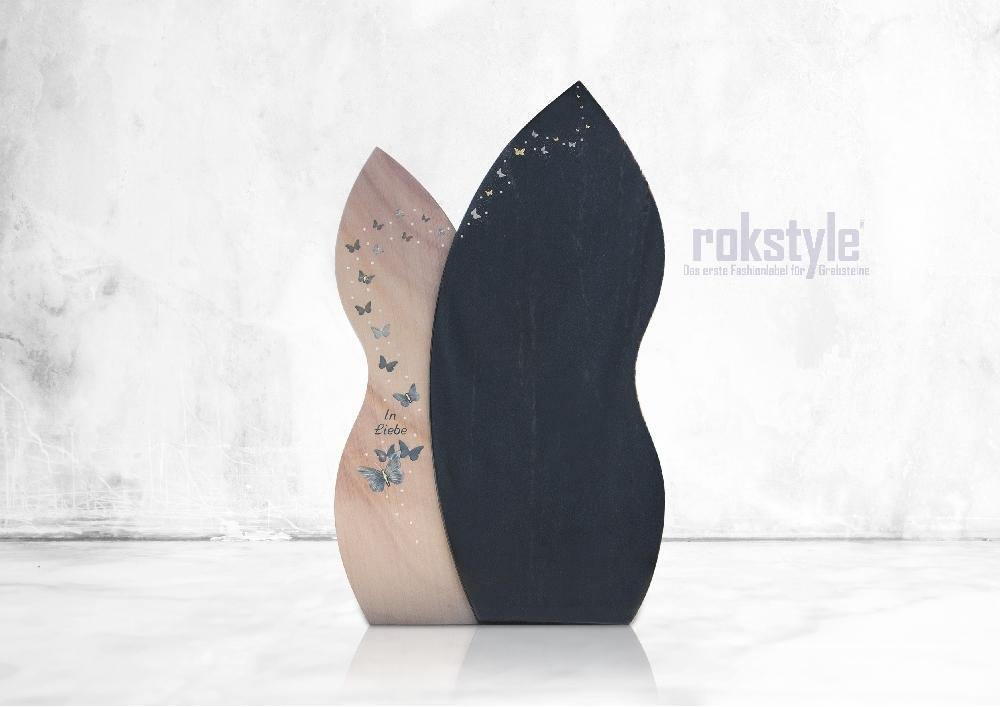 Rokstyle moderner Grabstein 059