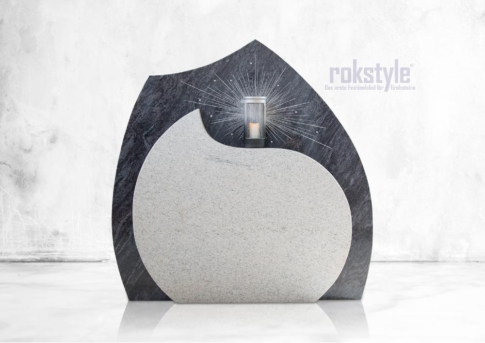 Rokstyle moderner Grabstein 060