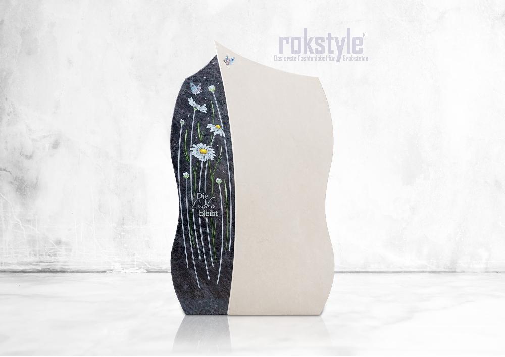 Rokstyle moderner Grabstein 061