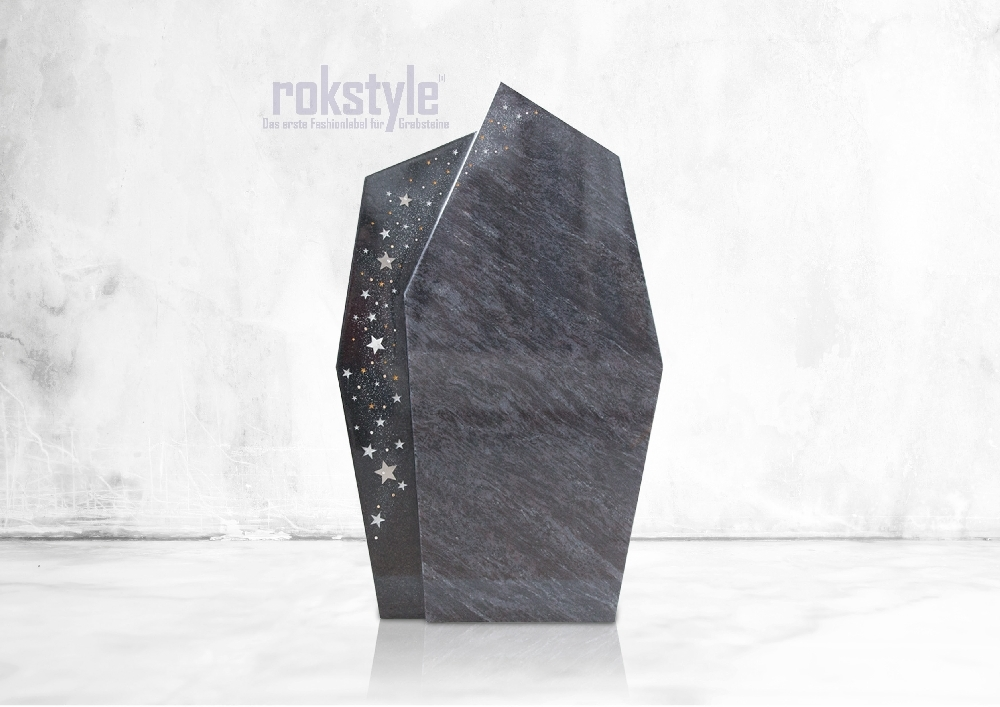 Rokstyle moderner Grabstein 062