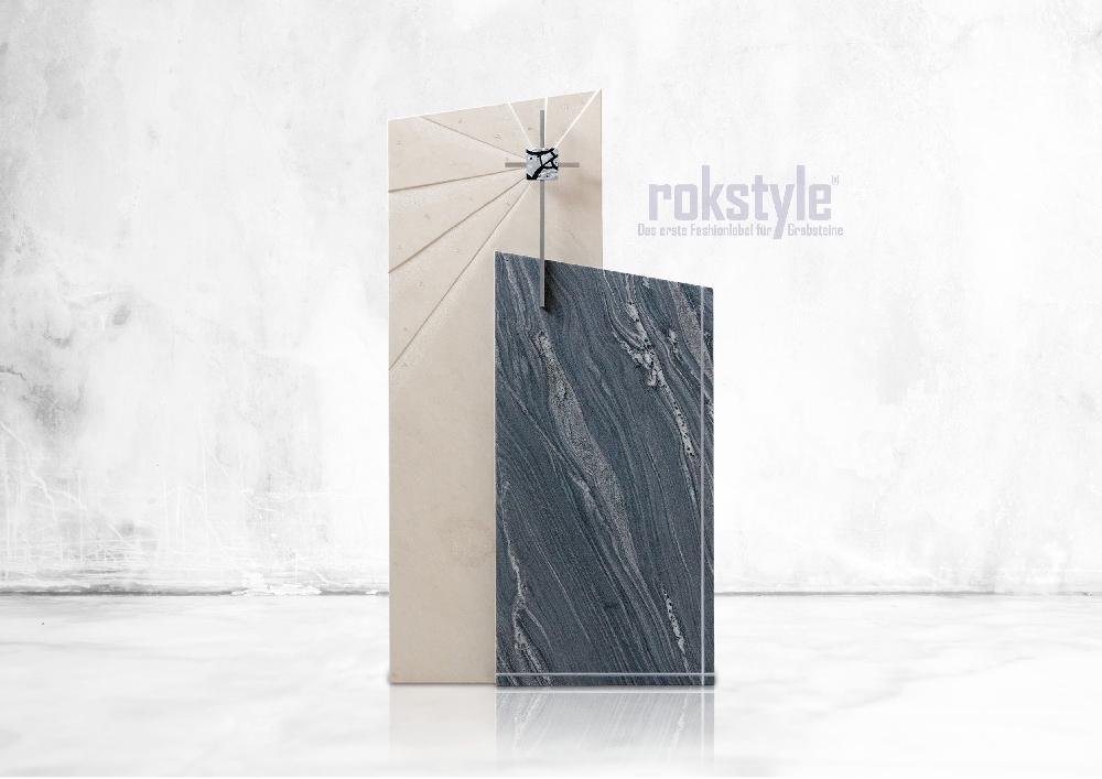 Rokstyle moderner Grabstein 063