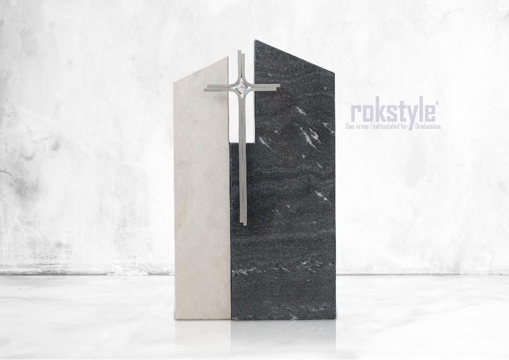 Rokstyle moderner Grabstein 064