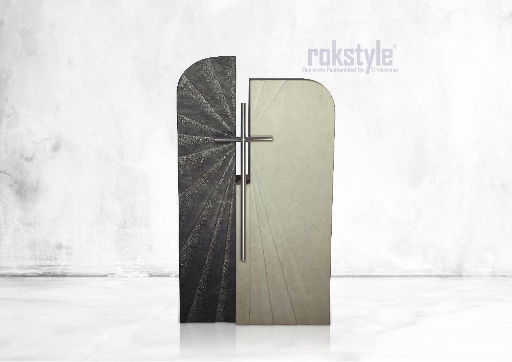 Rokstyle moderner Grabstein 065
