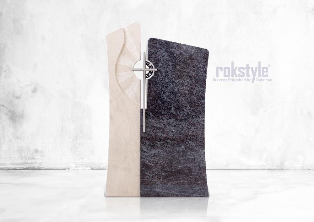 Rokstyle moderner Grabstein 067