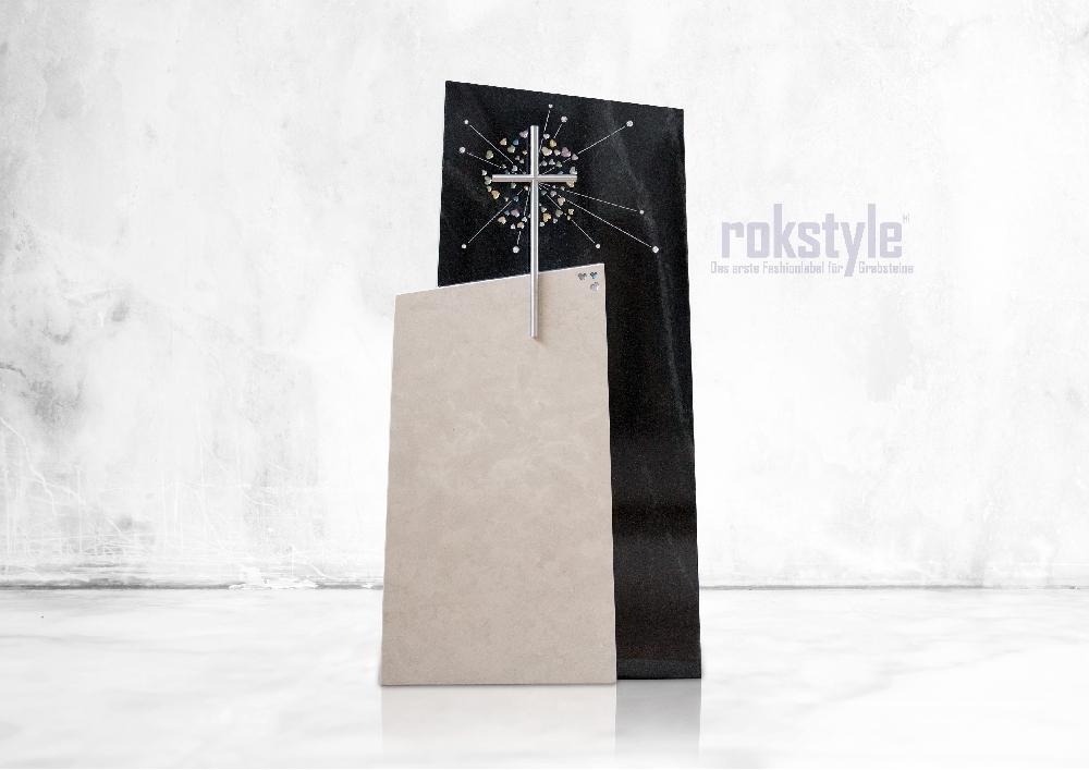 Rokstyle moderner Grabstein 070