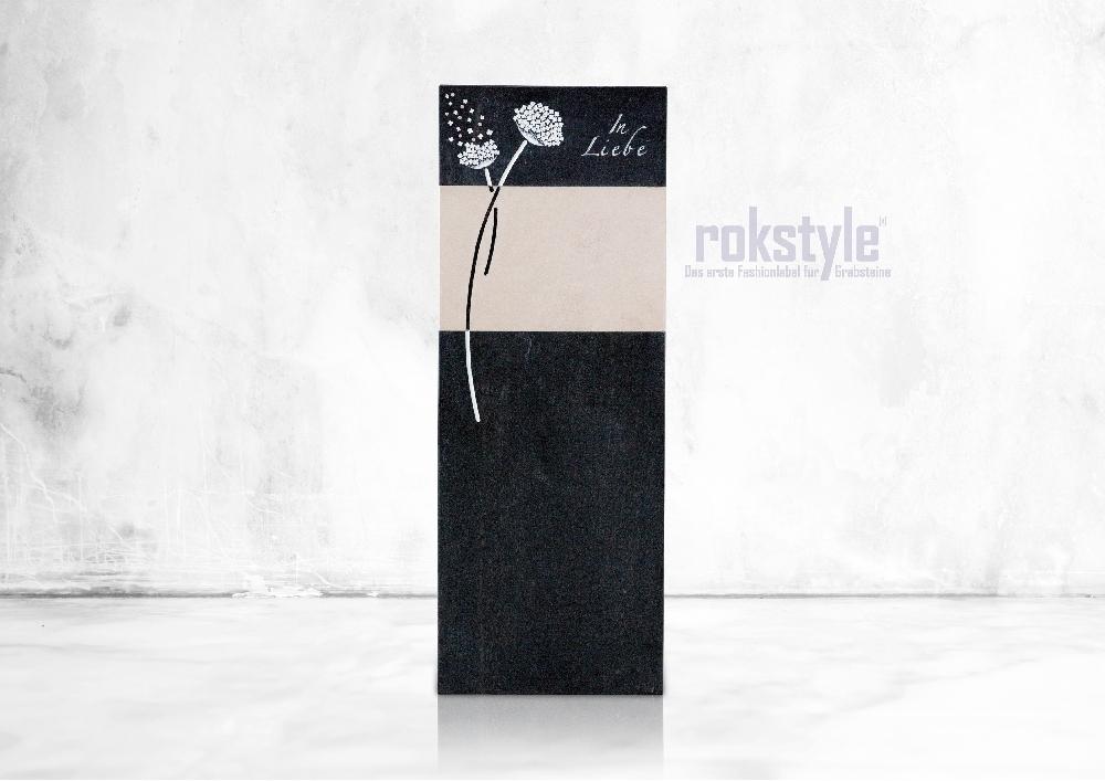 Rokstyle moderner Grabstein 071