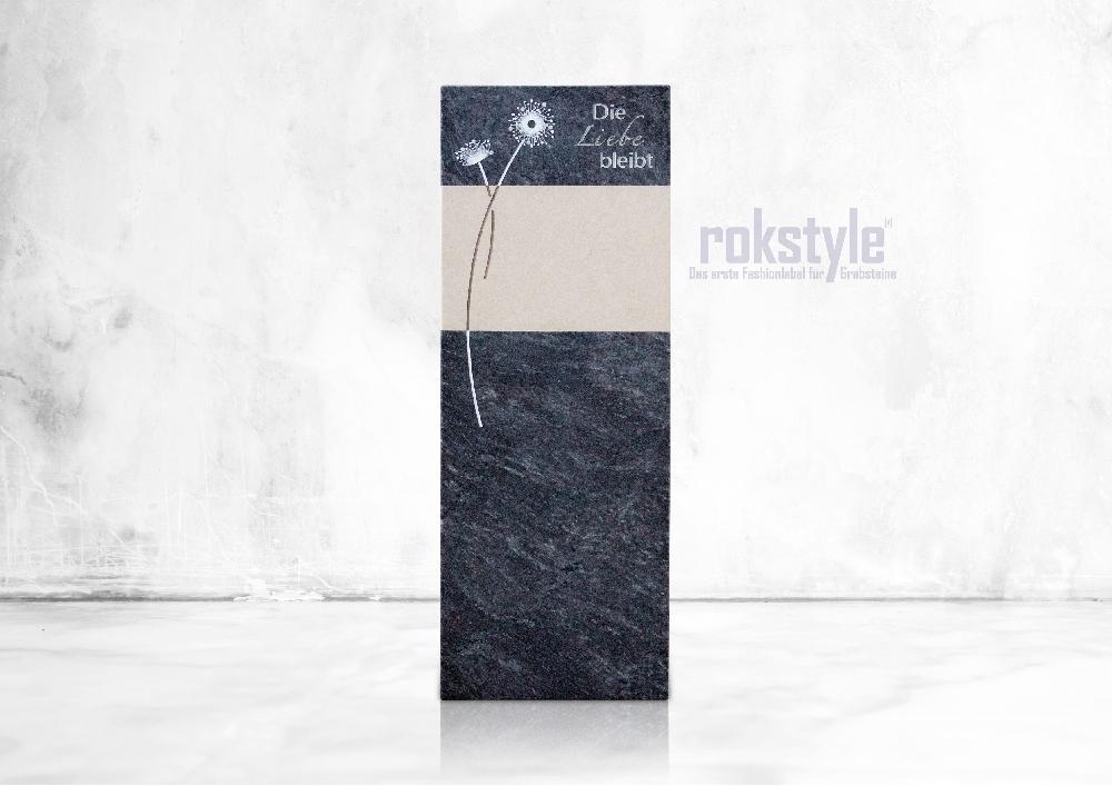 Rokstyle moderner Grabstein 072