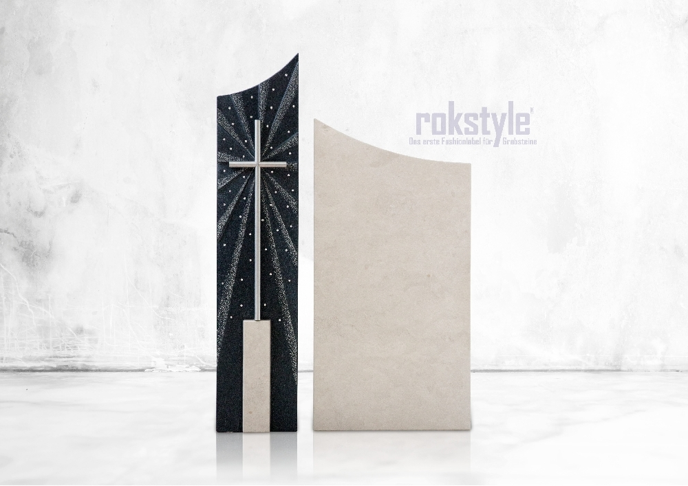 Rokstyle moderner Grabstein 074
