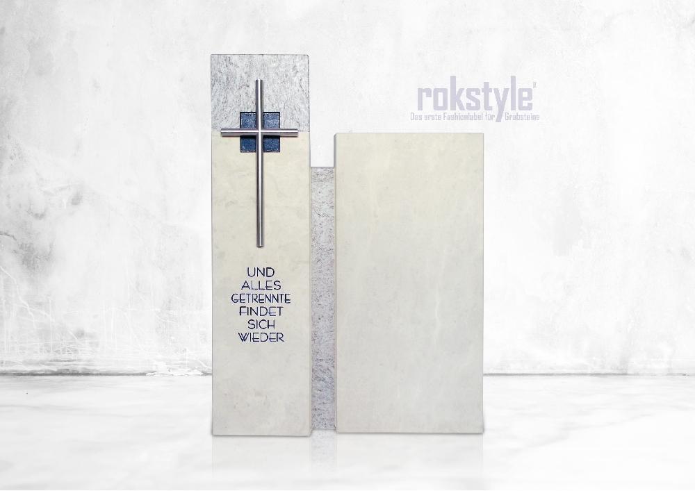 Rokstyle moderner Grabstein 075