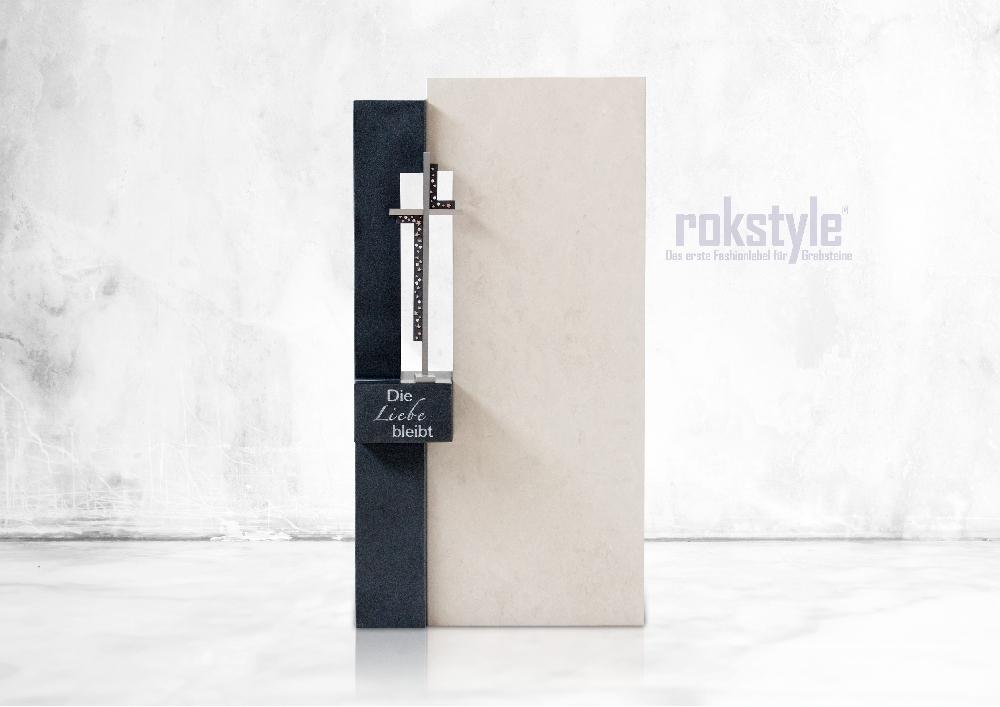 Rokstyle moderner Grabstein 076