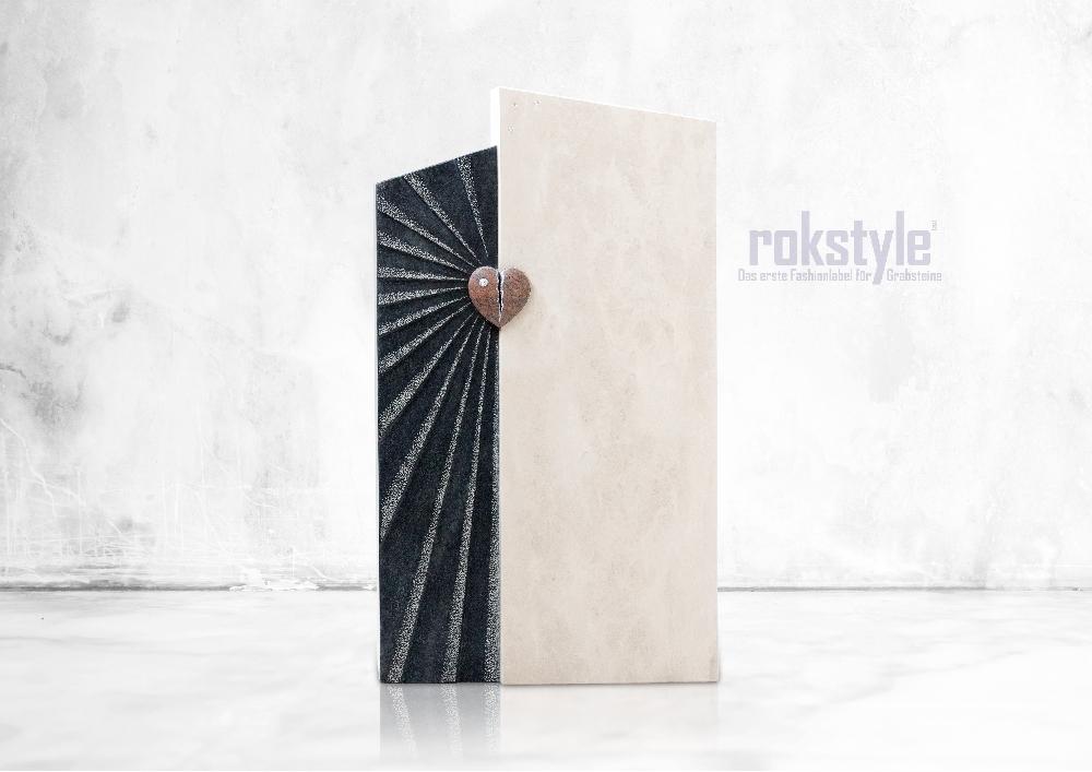 Rokstyle moderner Grabstein 077