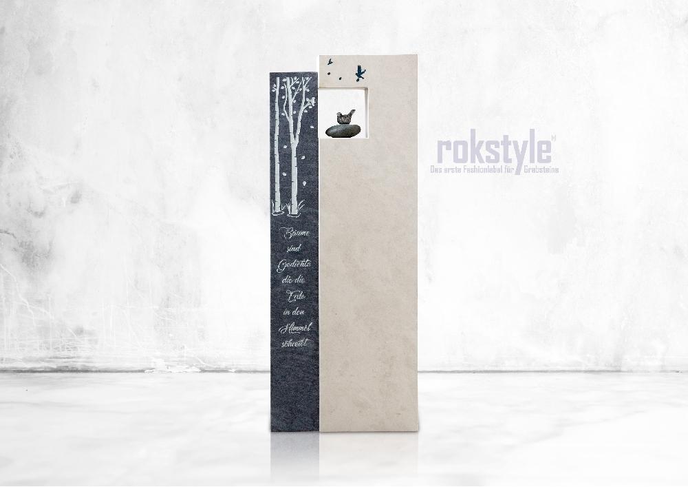 Rokstyle moderner Grabstein 078