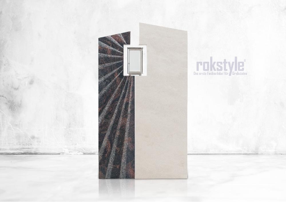 Rokstyle moderner Grabstein 079