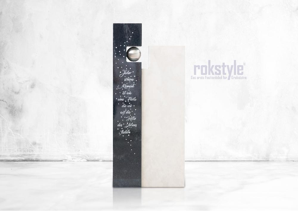 Rokstyle moderner Grabstein 080